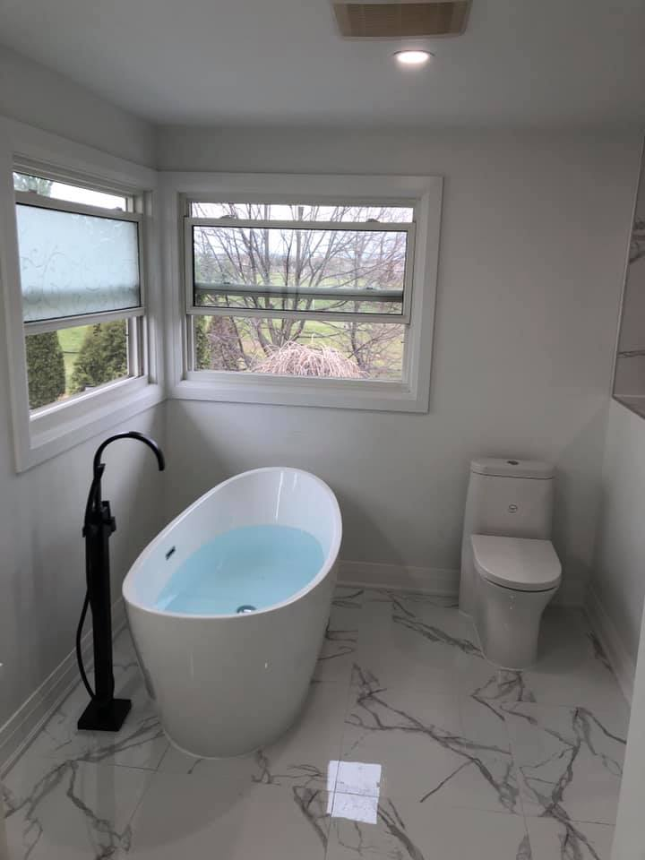 soaker tub install burlington